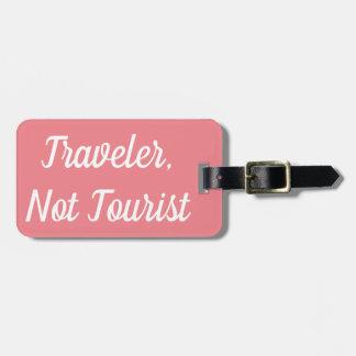 Etiqueta De Bagagem Tag da bagagem do turista do viajante não
