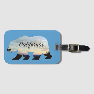Etiqueta De Bagagem Tag da bagagem do urso de Califórnia