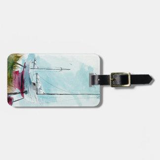 Etiqueta De Bagagem Tag da bagagem do veleiro da doca seca
