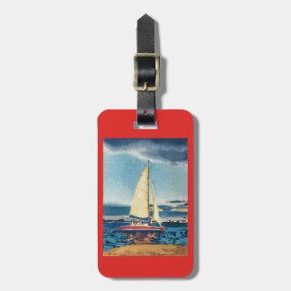 Etiqueta De Bagagem Tag da bagagem do veleiro ou corrente chave