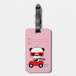 Etiqueta De Bagagem Tag da bagagem do viagem da panda