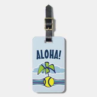 Etiqueta De Bagagem Tag da bagagem do viagem do tênis do costume Aloha