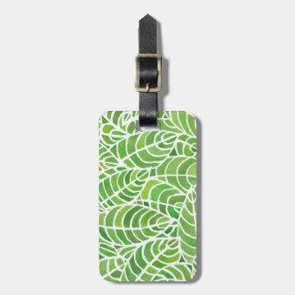 Etiqueta De Bagagem Tag da bagagem do Watercolour da sala da palma