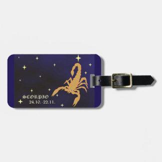 Etiqueta De Bagagem Tag da bagagem do zodíaco da Escorpião