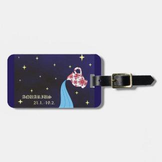 Etiqueta De Bagagem Tag da bagagem do zodíaco do Aquário