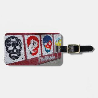 Etiqueta De Bagagem Tag da bagagem dos crânios de Streetart