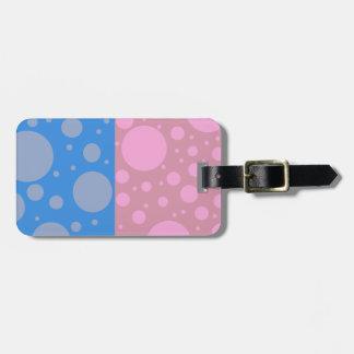 Etiqueta De Bagagem Tag da bagagem dos pontos com correia de couro