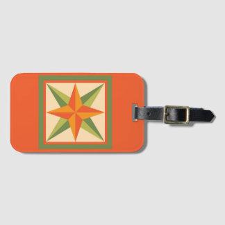 Etiqueta De Bagagem Tag da bagagem - estrela chanfrada (alaranjada)