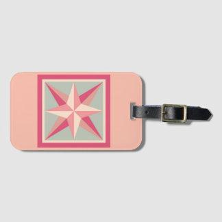 Etiqueta De Bagagem Tag da bagagem - estrela chanfrada (rosa)