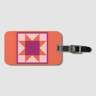 Etiqueta De Bagagem Tag da bagagem - estrela do Sawtooth (alaranjada)