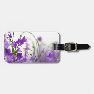 Etiqueta De Bagagem Tag da bagagem--Flores roxas horizontais