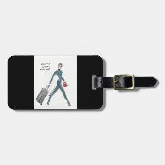 Etiqueta De Bagagem Tag da bagagem. Hospedeiros de bordo temáticos
