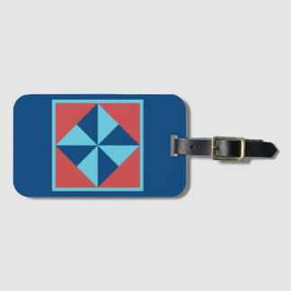 Etiqueta De Bagagem Tag da bagagem - Pinwheel (azul escuro)