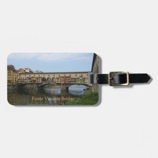 Etiqueta De Bagagem Tag da bagagem--Ponte de Ponte Vecchio