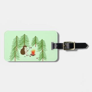 Etiqueta De Bagagem Tag de acampamento da bagagem do ouriço