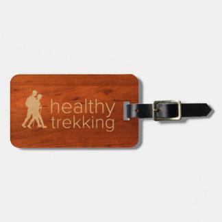 Etiqueta De Bagagem Tag de madeira Trekking saudável da bagagem de Koa