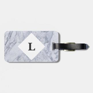 Etiqueta De Bagagem Tag de mármore branco personalizado da bagagem