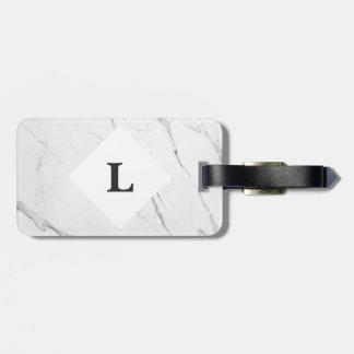 Etiqueta De Bagagem Tag de mármore branco personalizado da bagagem de