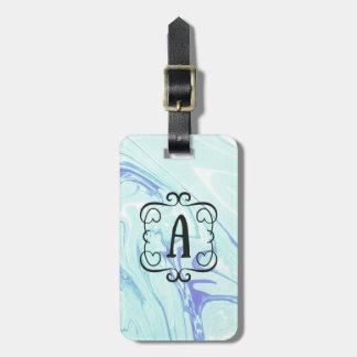 Etiqueta De Bagagem Tag de mármore da bagagem do monograma A