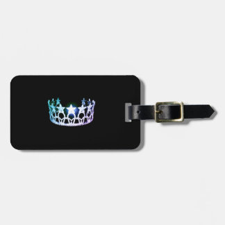 Etiqueta De Bagagem Tag de prata da bagagem da coroa da senhorita EUA