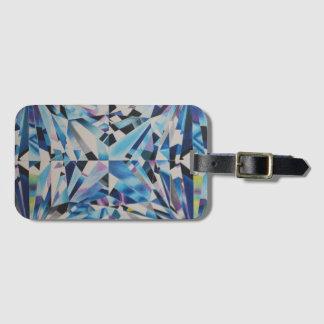 Etiqueta De Bagagem Tag de vidro da bagagem do diamante com entalhe de