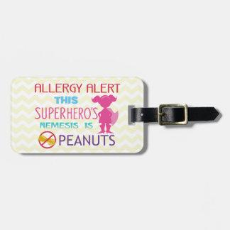 Etiqueta De Bagagem Tag do alerta do super-herói da alergia do