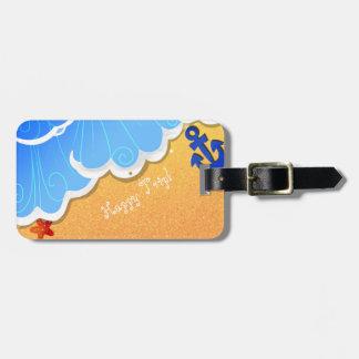 Etiqueta De Bagagem Tag do luggge da praia do verão