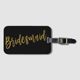 Etiqueta De Bagagem Tag do saco da bagagem da folha de ouro da dama de