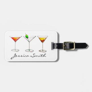 Etiqueta De Bagagem Tag do saco de Martini Cosmo da bebida misturada