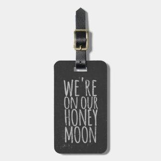 Etiqueta De Bagagem Tag do saco do viagem da lua de mel do quadro do
