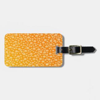 Etiqueta De Bagagem Tag do saco, mulher, flores + teste padrão