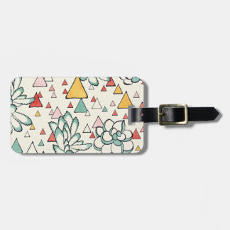 Etiqueta De Bagagem Tag do Succulent e da bagagem dos triângulos