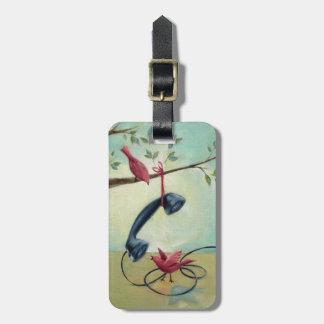 Etiqueta De Bagagem Tag do telefone do vintage & da bagagem dos