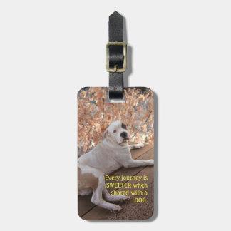 Etiqueta De Bagagem Tag doce da bagagem da viagem do cão irresistível