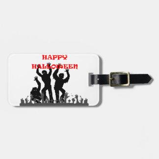 Etiqueta De Bagagem Tag drooling da bagagem do zombi do Dia das Bruxas
