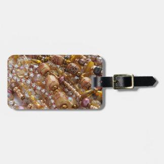 Etiqueta De Bagagem Tag Earthtones natural da bagagem, impressão de