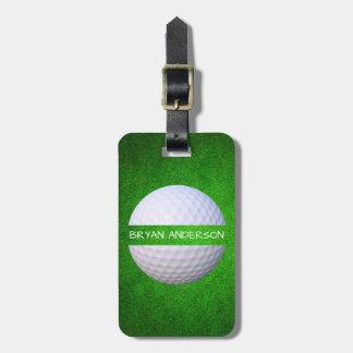 Etiqueta De Bagagem Tag elegante da bagagem do golfe