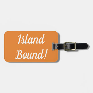 Etiqueta De Bagagem Tag encadernado da bagagem da ilha