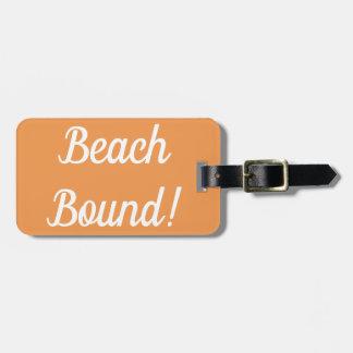 Etiqueta De Bagagem Tag encadernado da bagagem da praia