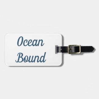 Etiqueta De Bagagem Tag encadernado da bagagem do oceano