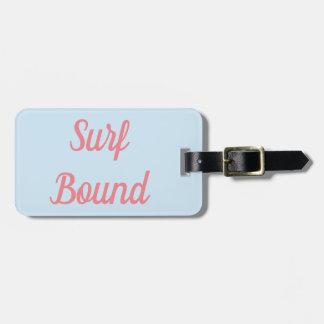 Etiqueta De Bagagem Tag encadernado da bagagem do surf