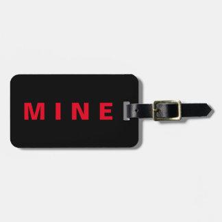 """Etiqueta De Bagagem Tag engraçado da bagagem com a """"mina"""" escrita nela"""