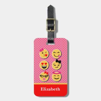 Etiqueta De Bagagem Tag engraçado da bagagem com caráteres do emoji