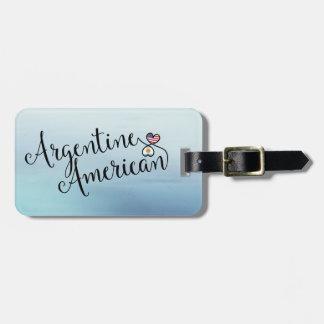 Etiqueta De Bagagem Tag entrelaçado americano da bagagem dos corações