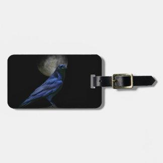 Etiqueta De Bagagem Tag feito sob encomenda da bagagem do corvo gótico