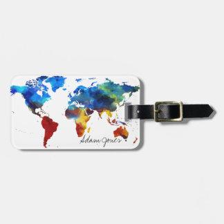 Etiqueta De Bagagem Tag feito sob encomenda da bagagem - mapa do mundo