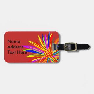 Etiqueta De Bagagem Tag florais tropicais da bagagem