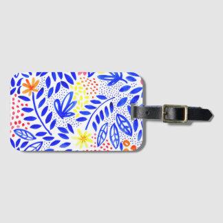 Etiqueta De Bagagem Tag floral corajoso da bagagem do Belle