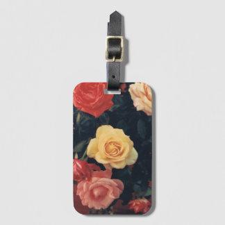Etiqueta De Bagagem Tag floral da bagagem