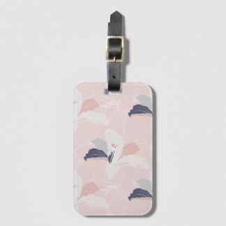 Etiqueta De Bagagem Tag floral da bagagem dos esboços tropicais